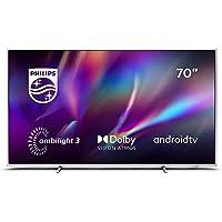 Philips Ambilight 70PUS8505/12 - Televisor Smart TV de 70 Pulgadas (4K UHD, P5 Picture Engine, Dolby Vision, Dolby Atmos…