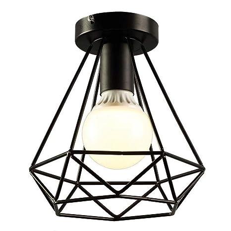 1-Luces E27 Jaula hierro Iluminación de techo Decorativo Vintage ...