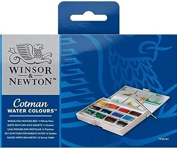 Winsor & Newton - Acuarela Cotman - Caja pintura con pastillas, 12 pastillas: Amazon.es: Hogar