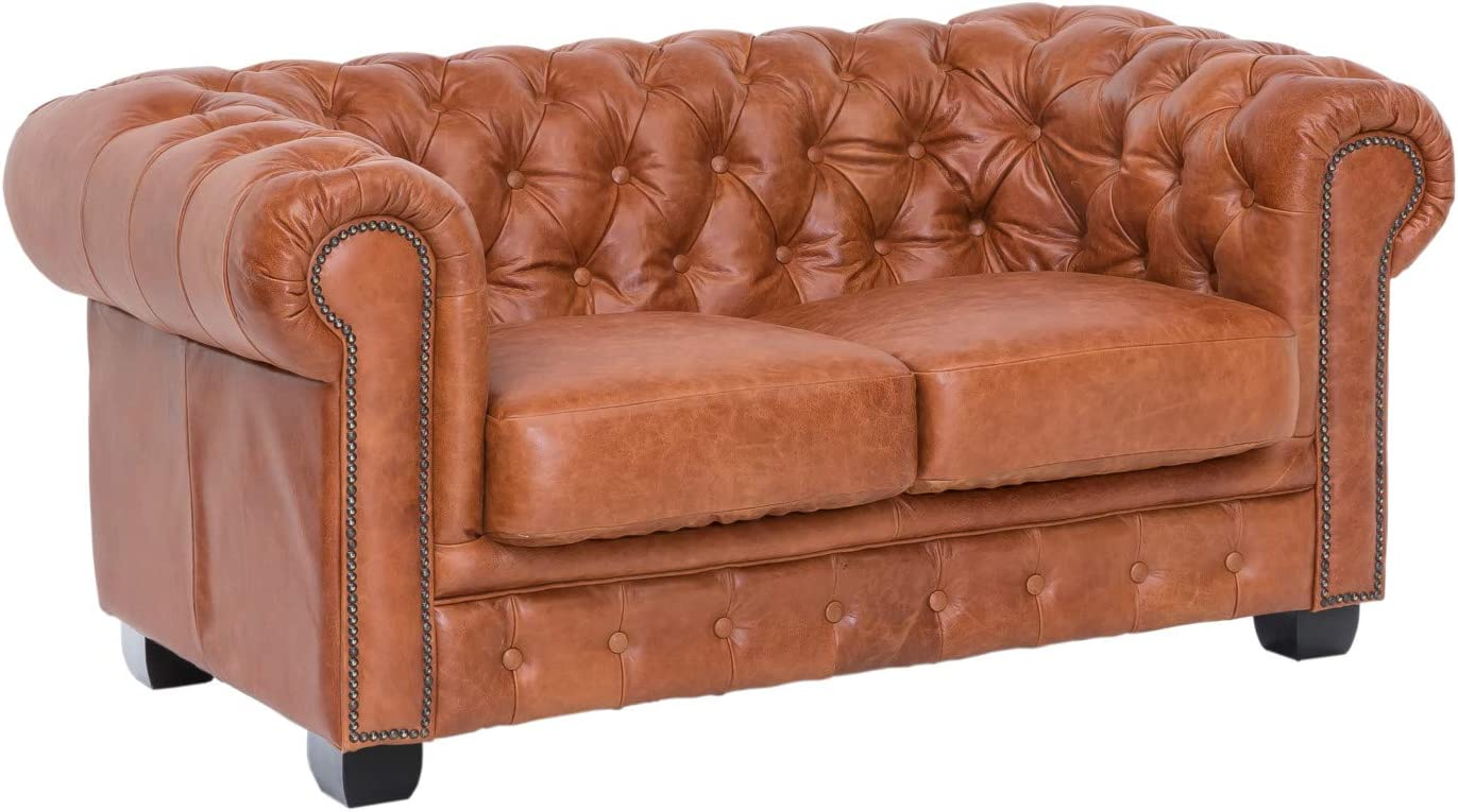Woodkings® Chesterfield Sofa 10 Seater Real Leather Couch Office Sofa  Upholstered Furniture 10 Seater Antique Unique Men's Room English Leather  Sofa ...