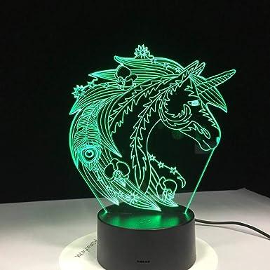wangZJ 3d illusion lampenuit optique table de chevet