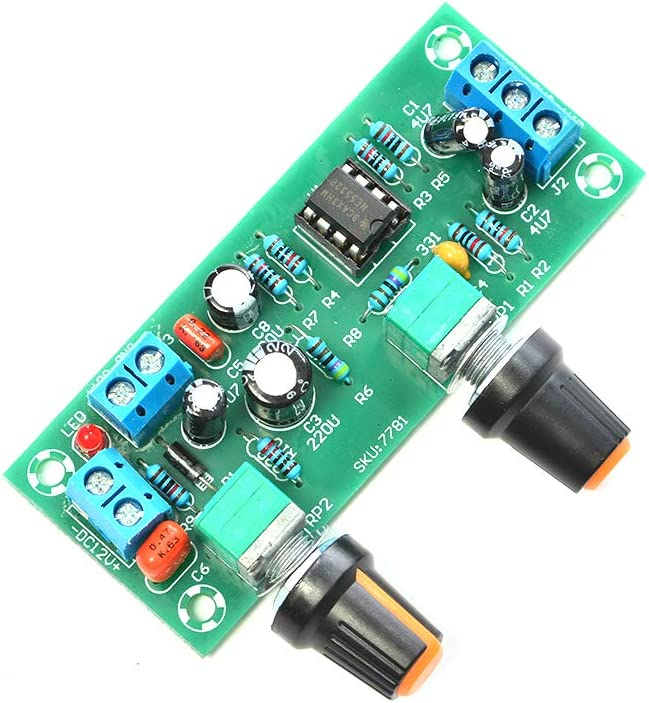 Single Power DC 12V Low Pass Filter Heavy Subwoofer Pre-AMP Amplifier Board