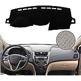 DYBANP وسادة غطاء لوحة القيادة ، من أجل Hyundai Accent Verna 2012-2017 ، LHD RHD لوحة أدوات السيارة للقيادة اليدوية