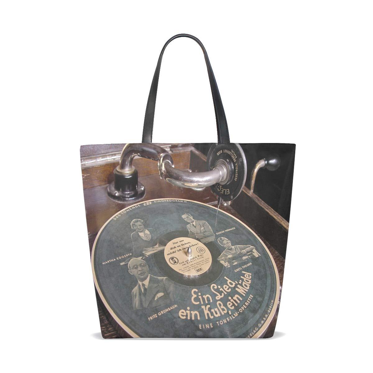 Amazon.com: Optage Musik Pladespiller ?rgang Tote Bag Purse ...