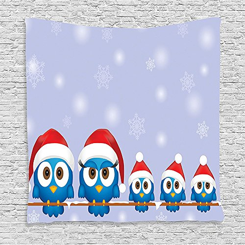 bedroom-living-room-dorm-elastic-fabric-wall-hanging-tapestry-christmas-decorations-collection-funny