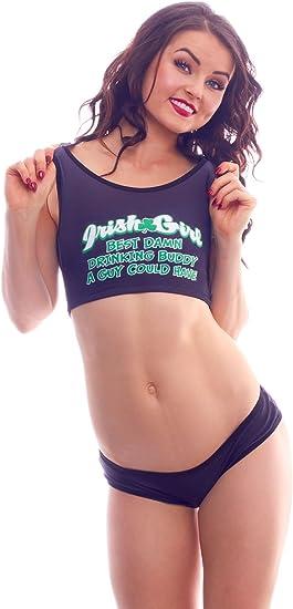 BODYZONE Womens Apparel Lucky Collection Drunk Lives Matter Print Bikini Panty.