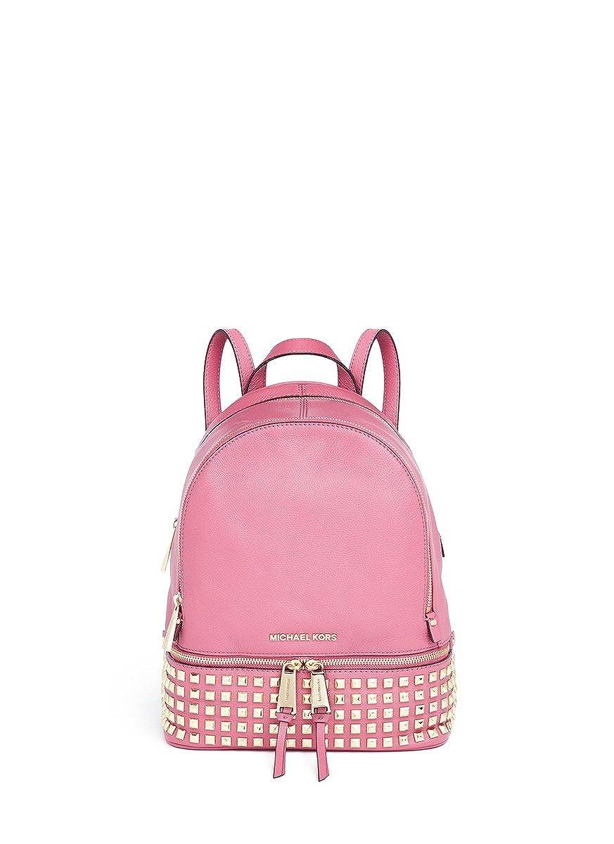 8a78f6e5a014 Amazon.com  Michael Kors Rhea Small Studded Leather Backpack Pale Pink   Shoes