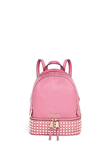 3dd4016d8b9c Amazon.com  Michael Kors Rhea Small Studded Leather Backpack Pale Pink   Shoes