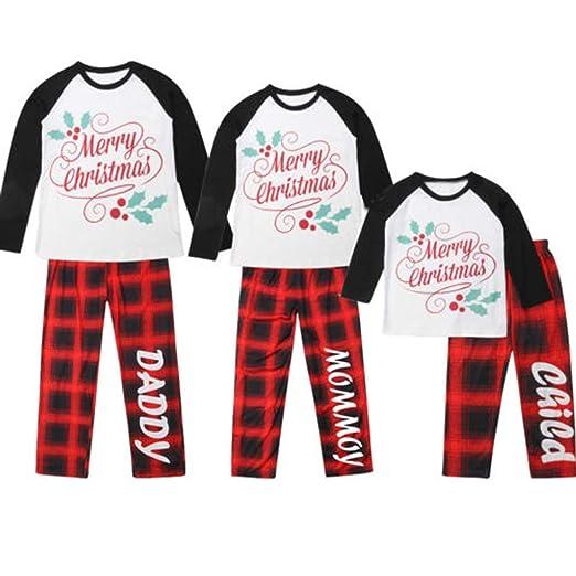 6f5871c60a Family Matching Christmas Plaid Pajamas Pjs Sets Christmas Sleepwear  Homewear Nightwear Family (1-2T