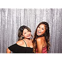7ft X 7ft Silver Backdrop, Wedding/party Photo Booth, Sparkly Photography Background