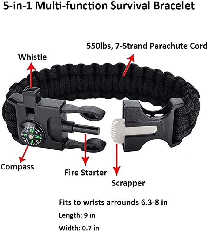 Black Mini Survival Tool Pfeife Kompass 2 in1 neue heiße Verkauf 1A WH JMDE X0DE