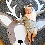 Creeping Mat For Infant Baby Cartoon Playmat Kids' Blankets Play Game Mat For Baby Room Decoration By Makaor (Diameter: Approx 94cm/37 Inch, # A)
