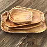 COSPRING Root Wood Dish, Party Platter and Tray for Sandwich Bread Serving, appetizer display, Vintage ring dish, Hand Carved Artworks