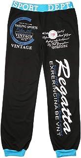 Pantalon de Jogging pour Hommes Hip Hop Loose Pantalons de Jogging Sports avec Impression de Lettre spéciale et Taille élastique et Cordon de Serrage - Noir avec Bleu XXXL Delicacydex