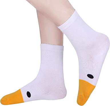 Amazon Com Untitled Goose Game Socks Animal Funny Novelty Crazy Funny Sock Puppets Casual Unisex 1 Pair Clothing