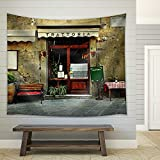 wall26 - Italian Restaurant - Fabric Wall Tapestry Home Decor - 68x80 inches