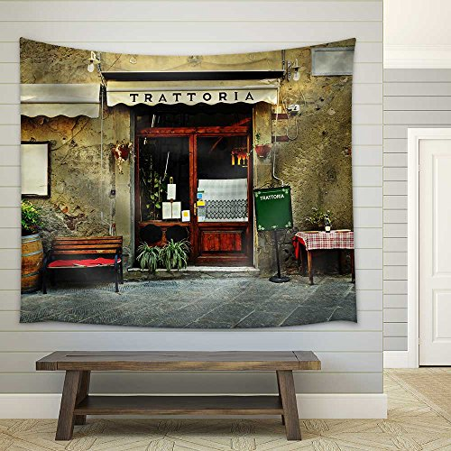 Wall26 - Italian Restaurant - Fabric Wall Tapestry Home Decor - 51x60 inches