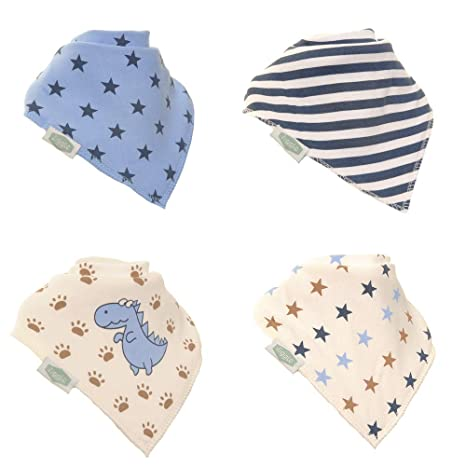 Fits Newborn To Toddler Bandana Dribble Bibs Award Winning Super Absorbent For Teething Baby Boys Bibs To Match Boys Ziggle Socks 4 Pack