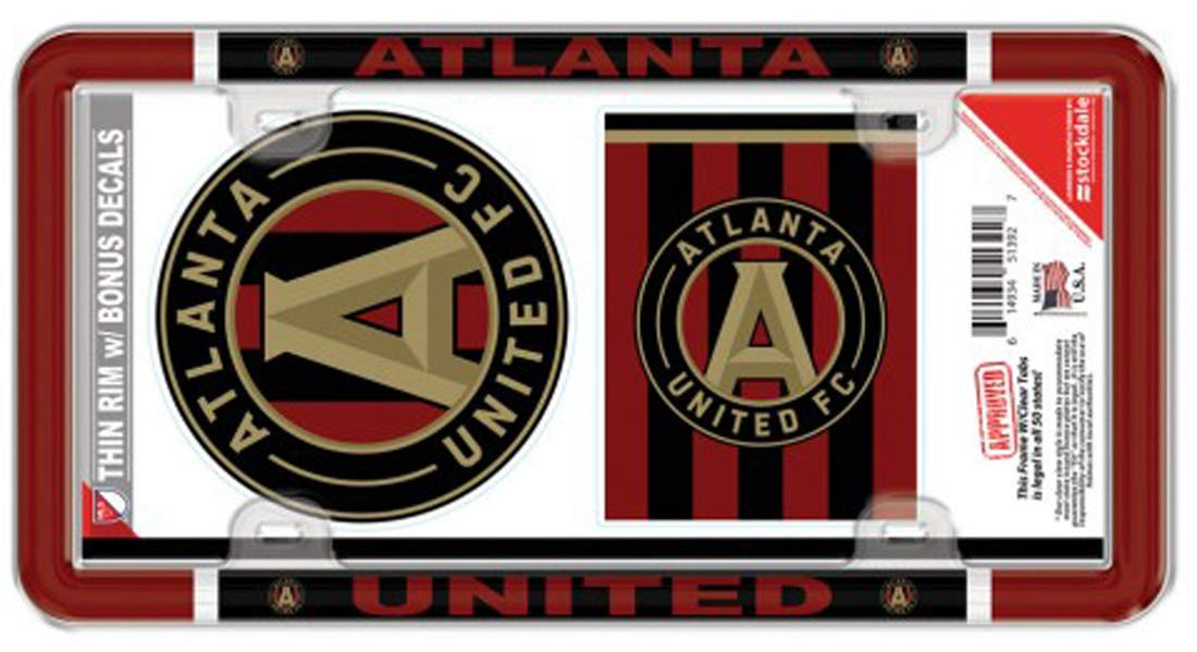 Wincraft MLS Atlanta United License Plate Frame and 2 Decals