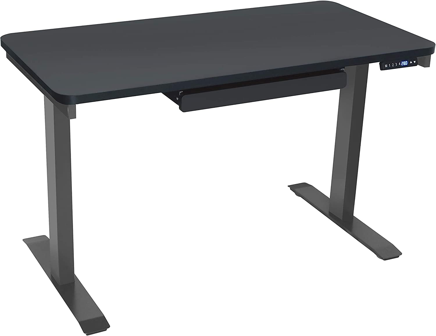 Motionwise Sdg48b Electric Standing Desk 24 X48 Home Office Series 28 48 With Quickly Program Up To 4 Pre Set Height Adjustments And Usb Charge Port Black Top With Light Grey Frame Amazon Ca Home