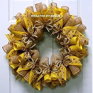 Spring Wreaths, Summer Wreaths, Sunflower Wreaths - Item 2621 70