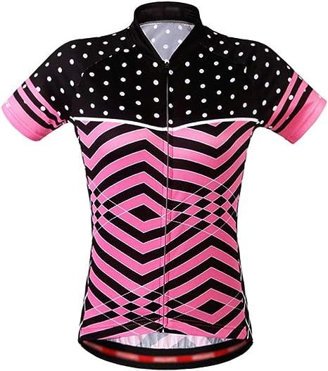 Zjcpow Jersey de Ciclismo Verano Mujer Ciclismo Jersey Secado rápido Bicicleta Manga Corta Camisa de Bicicleta Transpirable Correr Caminar: Amazon.es: Deportes y aire libre
