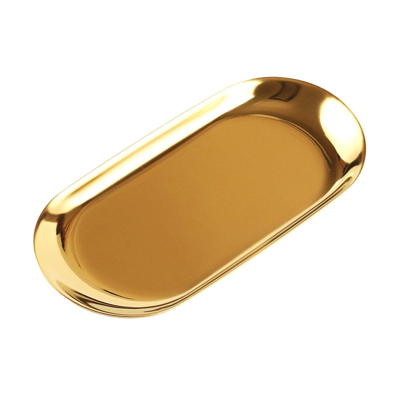 THEE Oval Tray Key Jewelry Cosmetics Tray Storage Table Decoration
