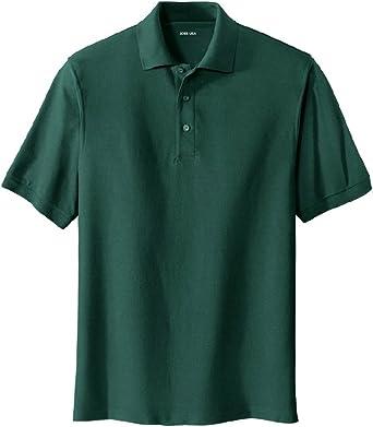 Joe's USA Men's Classic Polo Shirts - Tall 2X-Large 2XLT (47-49) - Dark Green