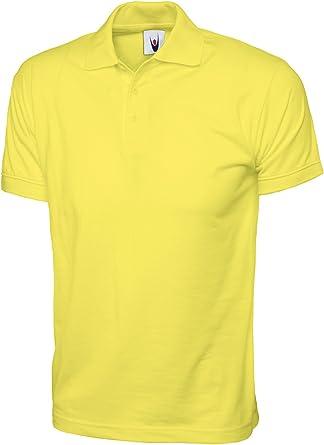 100% algodón Jersey Plain Polo de Manga Corta para Deportes Ocio ...
