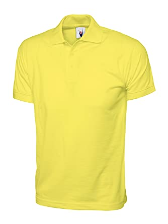 Uneek clothing - Polo - para hombre Amarillo amarillo XS: Amazon ...