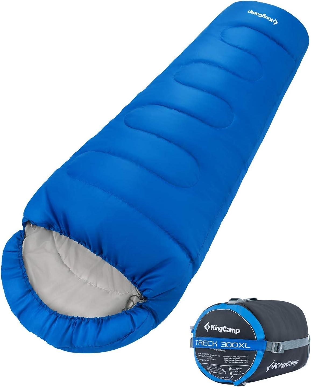 KingCamp Trek 3-4 Temporada Junior//Adultos Saco de Dormir de mam/á Doble Capa c/álido para Acampar Senderismo al Aire Libre