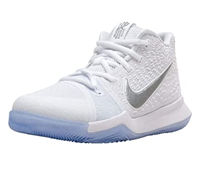 best cheap 7210f ea509 Nike Boy's Kyrie 3 (PS) Basketball Shoes 11.5C White Chrome
