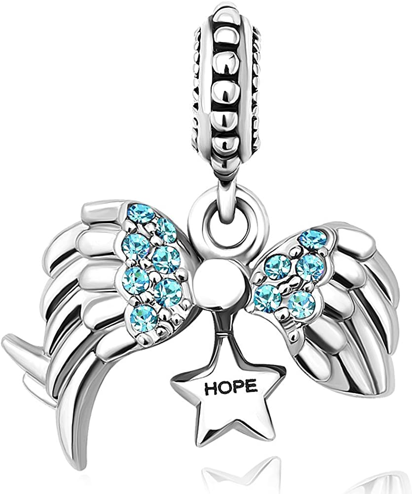 Korliya Breloque ailes dange pour bracelet