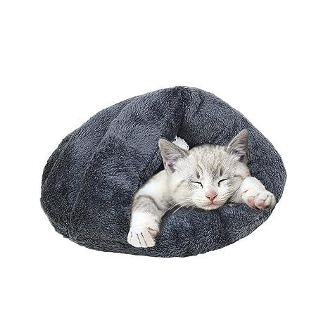 Mascotas Casa Mascotas Nest mascotas cama gato Saco de dormir Pet Nest Cave Forro Polar Suave ...