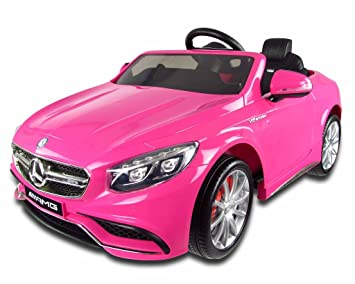 12v pink mercedes s63 amg kids electric car with parental remote control