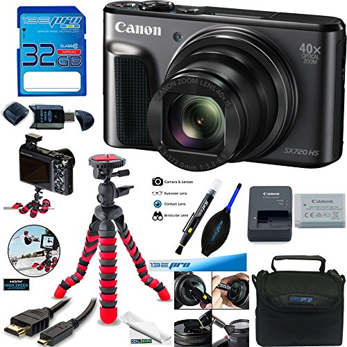 Canon PowerShot SX720 HS 20.3MP Digital Camera + Deal-Expo Advanced Accessories Bundle