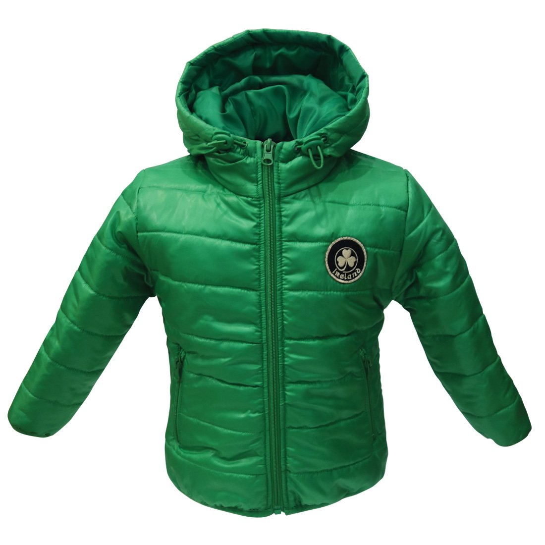 Carrolls Irish Gifts Green Ireland Shamrock Puff Kids Jacket