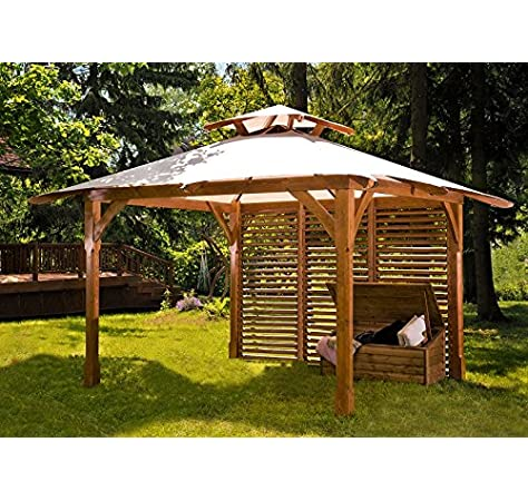 Pergola de metal con forma de jaula de pájaros de 4 lados estilo ...