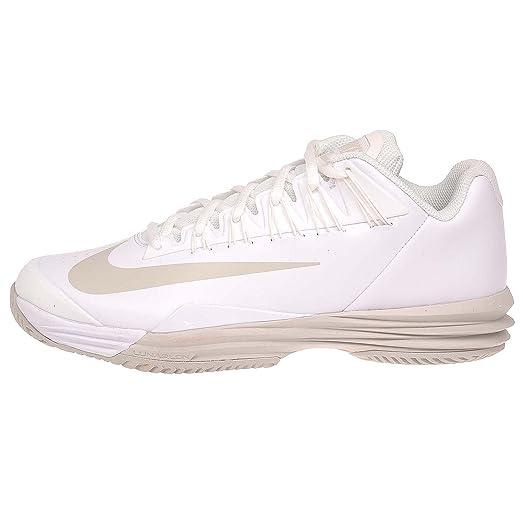 Nike Lunar Ballistec 1.5 White/Summit White/Light Bone Womens Tennis Shoes  Size 8.5