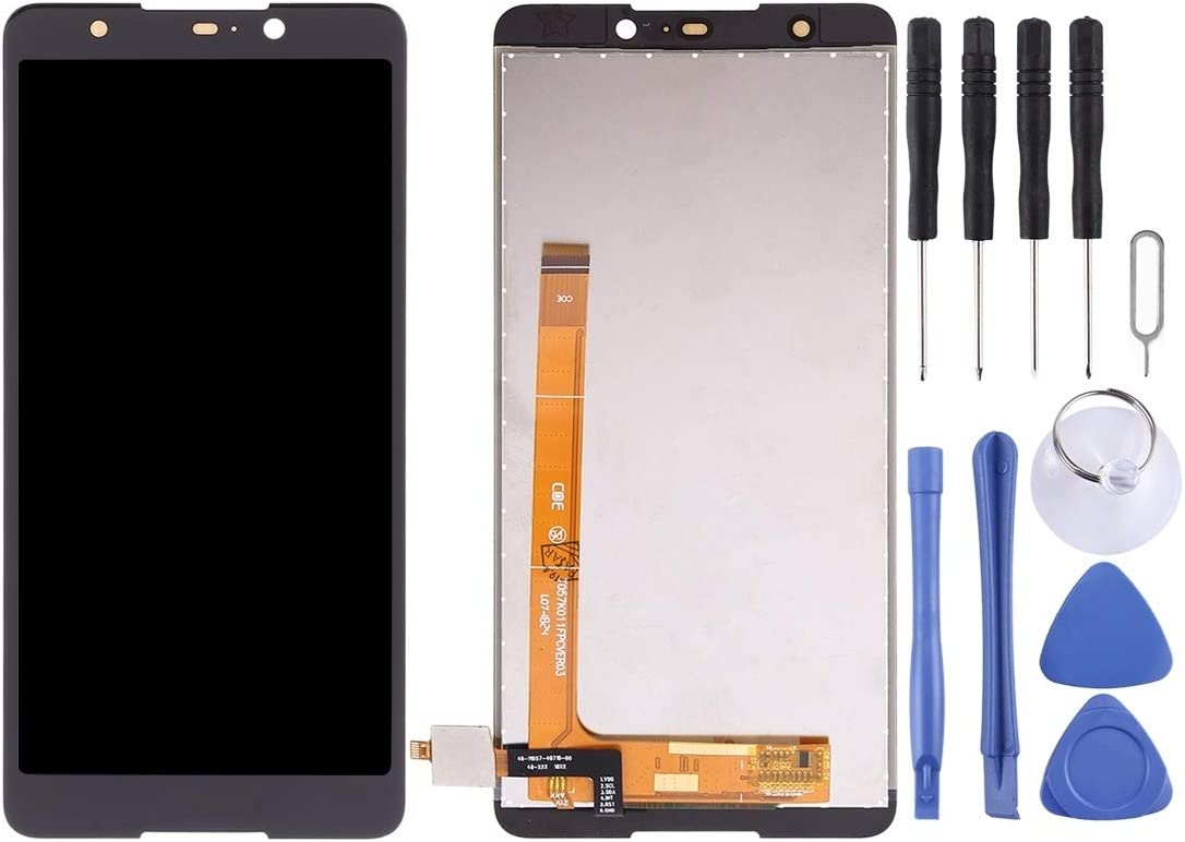Color : Black Black Mobile Phone LCD Screen Replacement LCD Screen and Digitizer Full Assembly for Wiko Lenny5