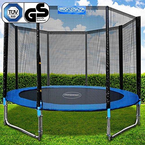 Monzana Trampoline Set Safety Net Enclosure Ladder Steel Frame Kids Outdoor 12ft