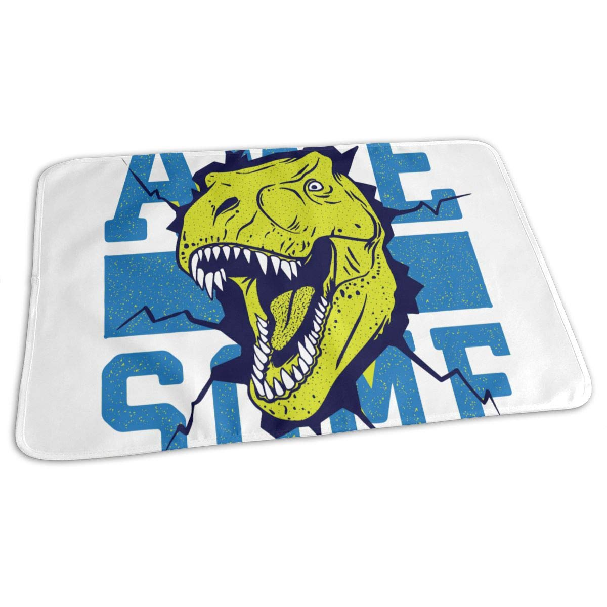 Osvbs Lovely Baby Reusable Waterproof Portable Cartoon's Fierce Tyrannosaurus Rex Changing Pad Home Travel 27.5''x19.7'' by Osvbs