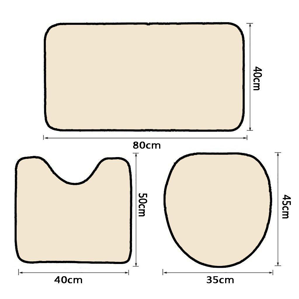 3 Piece Bath Rug Set Nalahome design-145112746 Retro cinema poster. Vector movie a Bathroom Rug(15.7''x23.62'')/large Contour Mat(15.7''x15.7'')/Lid Cover(15.7''x16.9'')For Bathroom(yellow )