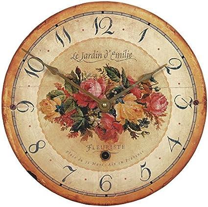 Emilie Rose Wall Clock 36cm Amazon Co Uk Kitchen Home