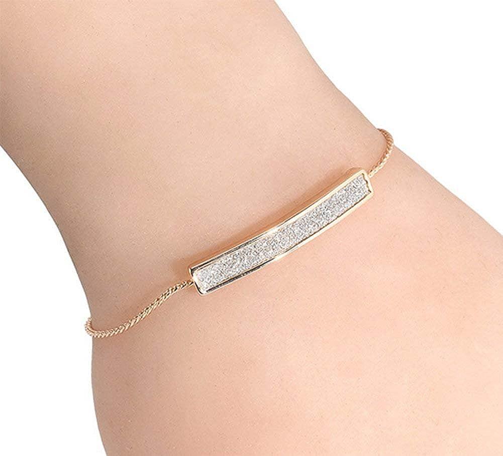 Stockton Bracelet Femmes Elégant Longues rayures de strass chaîne Réglable Bijoux romantique Bracelet Cadeau de l'amour
