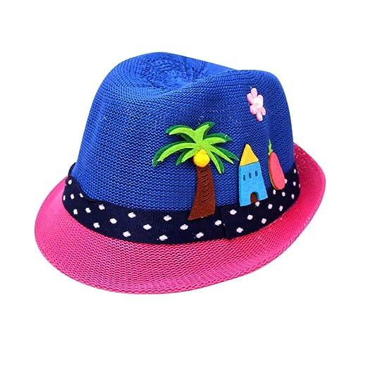 8519097ce Amazon.com: Kids 3D Cartoon Straw Hats,Suma-ma Baby Girl Boys Wide ...
