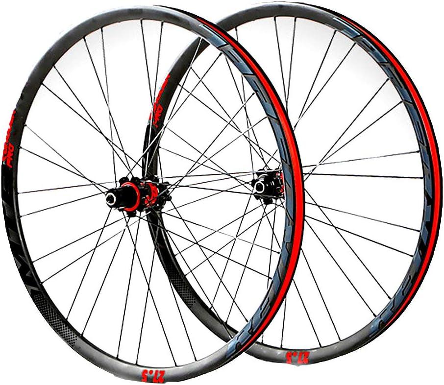 LYzpf Montaña Llantas Bicicleta Rueda Perfil Delantera Trasera Bici Rim 4 Rodamientos 27.5 Inch Fibra De Carbon Accesorios Equipamiento,Red: Amazon.es: Deportes y aire libre
