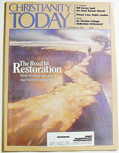 Christianity Today, Volume 31 Number 17, November 20, 1987