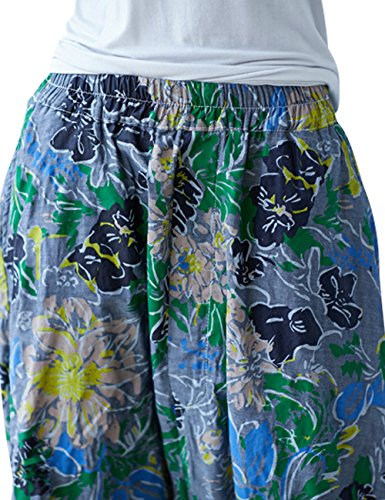 Femmes Pantalons Jambes Larges Jean Youlee t Jeans 3 en Taille Sarouel Style Elastique dZqOF8