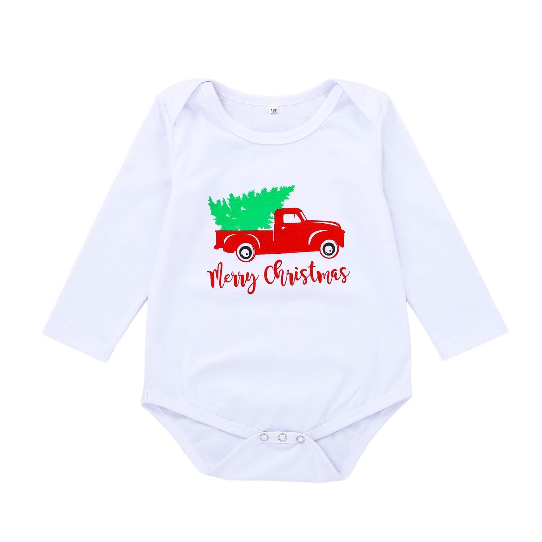 Unisex Infant Christmas Romper Baby Boys Girls